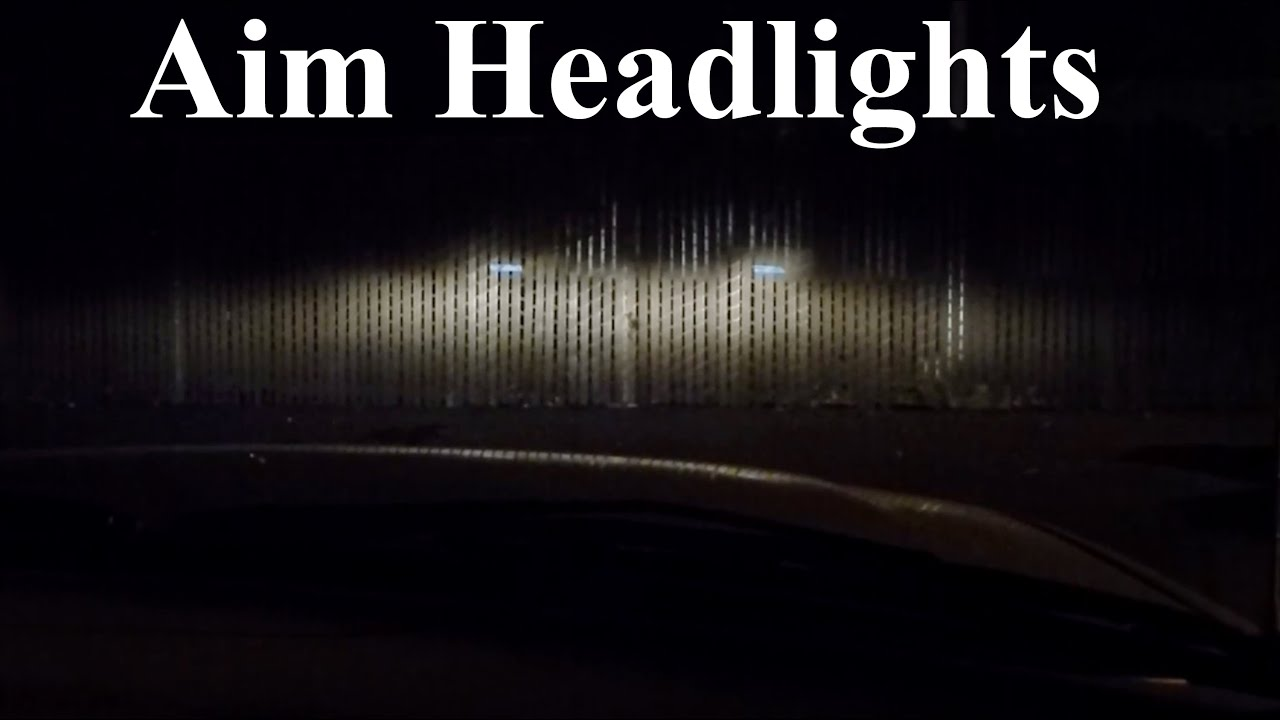 How To Adjust Align And Aim Headlights And Fog Lights