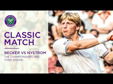 Boris Becker Vs Joakim Nystrom Wimbledon 1985 Rd.32