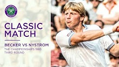 Boris Becker vs Joakim Nystrom | Wimbledon 1985 third round | Full Match