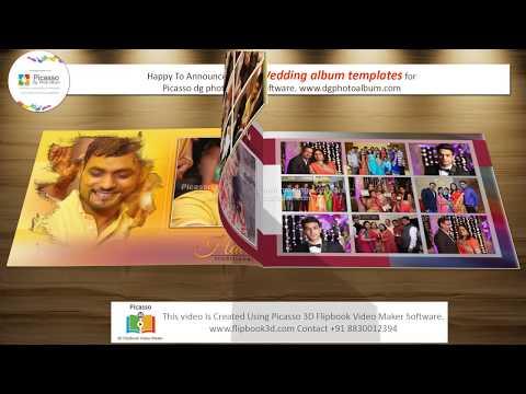 Vol12 New Free Wedding Album Template For Picasso Dg Photo Album Software