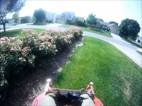 Mowing a Yard - First person view