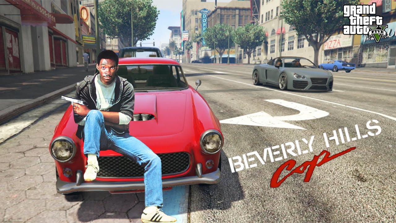 beverly hills cop movie trailer in gta 5  fan