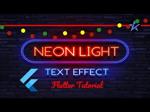 Neon Light Effect in Flutter   Beginners Guide