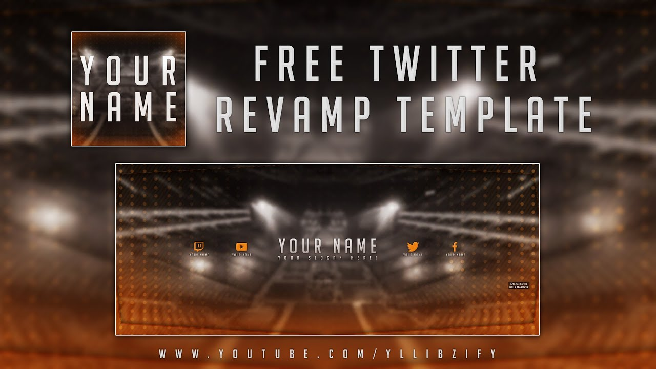 Free Graphics: Twitter Header template #2: Esports Arena theme ...