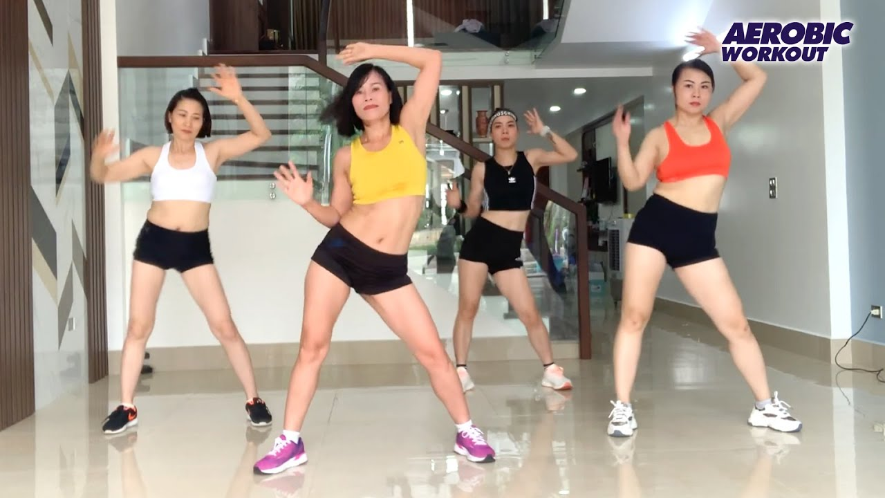 50 Mins Aerobic Dance At Home | Easy Workout to Reduce Abdominal Fat | Aerobic Workout