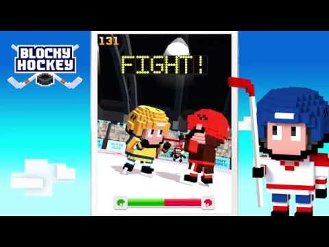 Blocky Hockey - Arcade Ice Runner
