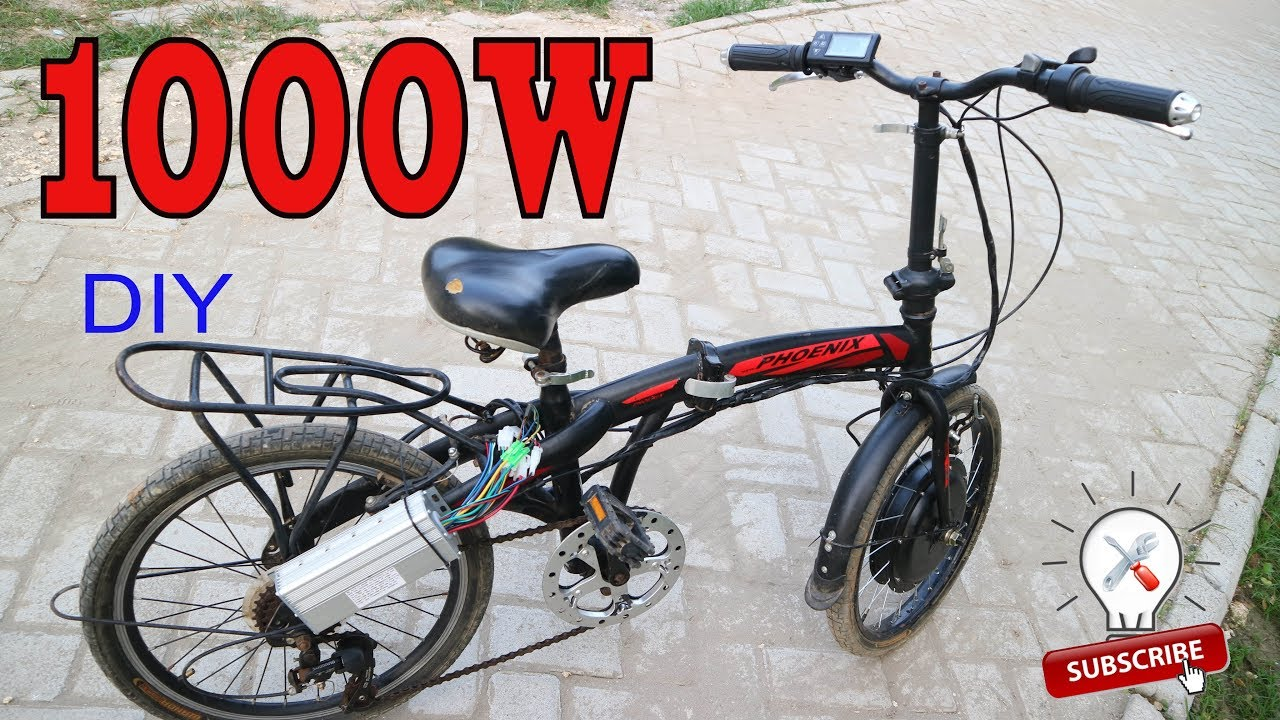 Cara Upgrade Sepeda Lipat Menjadi Bertenaga Listrik 1000w Youtube