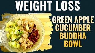 Weight Loss | Green Apple Cucumber Recipe | Buddha Bowl | Indian Kitchen thumbnail