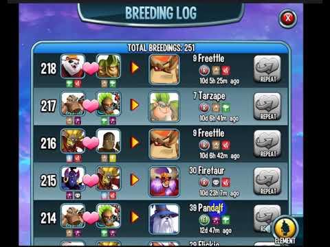 monster legends breeding