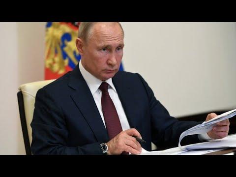 Путин на встрече с Собяниным по эпидемиологической обстановке в Москве
