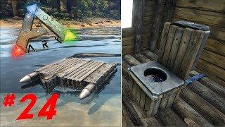 Bateau à moteur et Toilette | ARK: Survival Evolved ! #24
