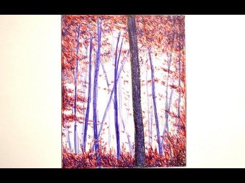 Cmo dibujar un bosque con bolgrafos de colores  Arte Divierte