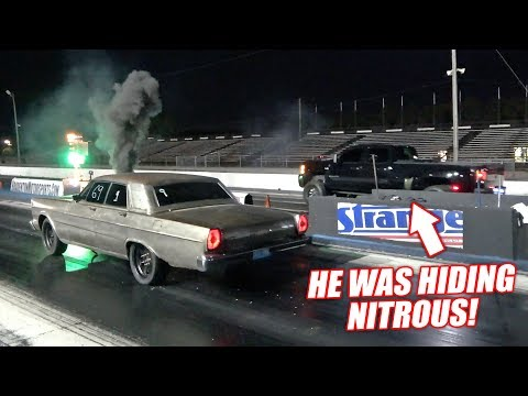 duramax-dually-calls-out-our-cummins-powered-galaxie!-(our-fastest-pass-yet!)