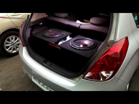 friends car audio setup - 2 DD 512 Subwoofer's 400W RMS each powered by DD M1D Monoblock amplifier