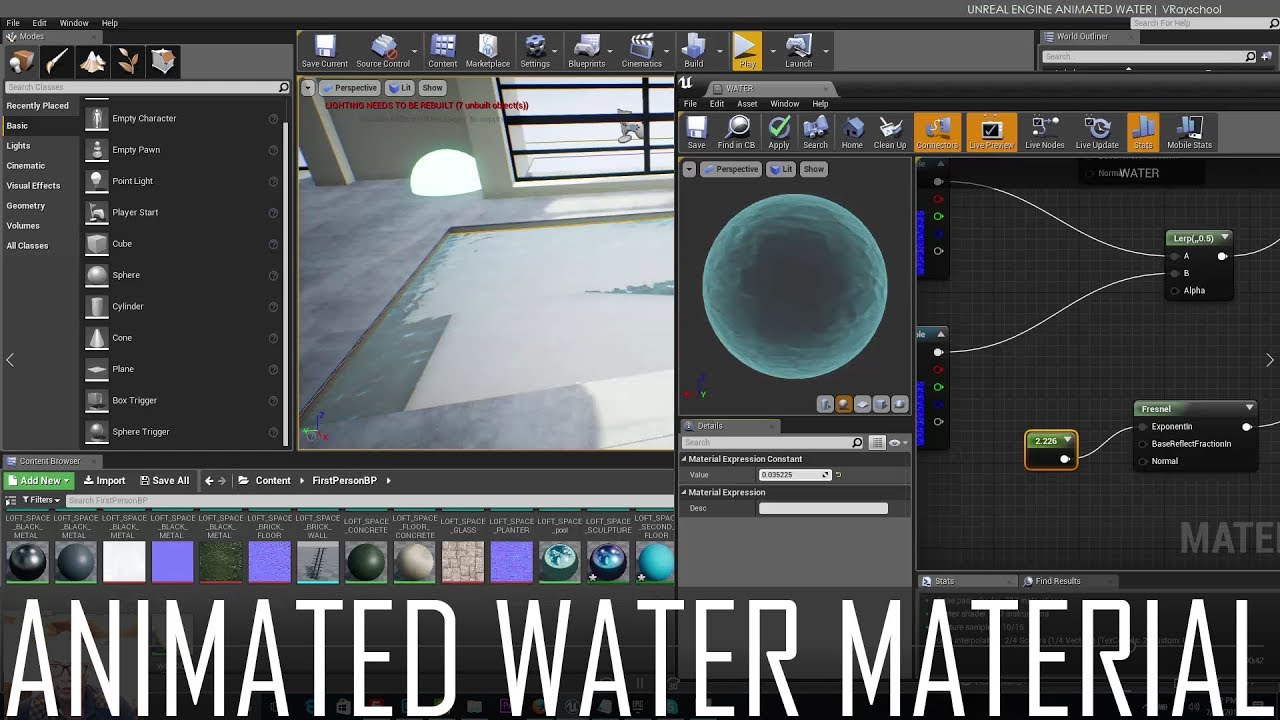 How To Create An Animated Water Material in UE4