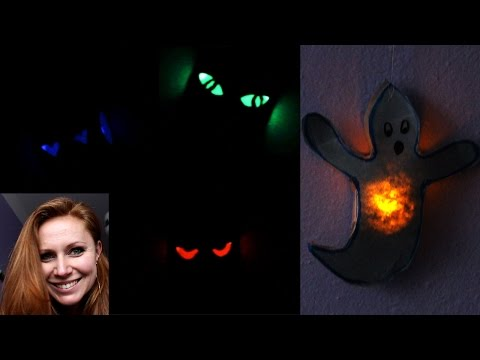 DIY Halloween decorations - How to make recycling scary eyes and ghost