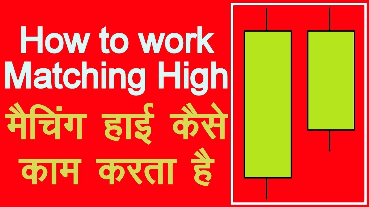 How to use matching high candlestick pattern in hindi technical analysis also rh youtube