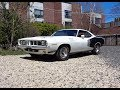 1971 Plymouth Cuda in White & 426 Hemi Engine Sound & Ride on My Car Story with Lou Costabile