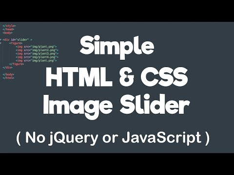 Simple HTML & CSS Image Slider - No JQuery Or JavaScript