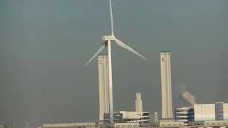 Port of Yokohama Japan - Wind turbine  - Wind Energy 2/2