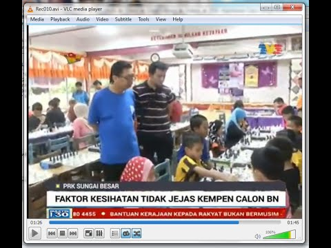 Mainstream media (TV3) coverage on AB Chess event - Kejohanan Catur Sungai Besar