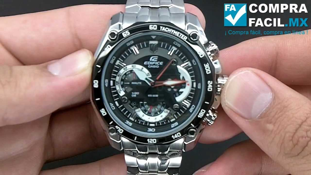 4e248f698062 Reloj Casio Edifice EF550 - CompraFacil.mx - YouTube