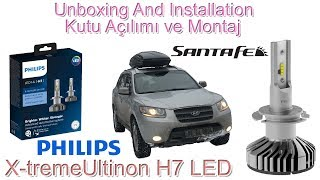 Philips H7 X-tremeUltinon LED İnceleme Montaj  - Installation - Hyundai Santa Fe - 4K