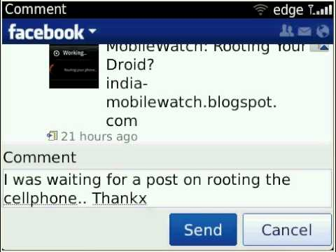 BlackBerry Bold 9790 Facebook app