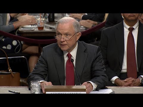Jeff Sessions full testimony on contacts with Russian officials during 2016 campaign