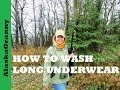 How To Wash Long Underwear