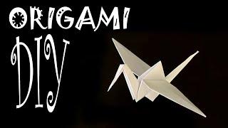 origami pliage papier la grue