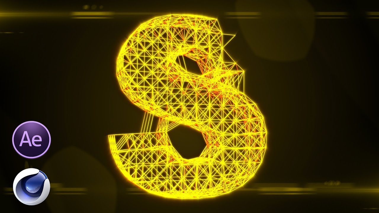 Cool Lighting 3D Text Animation After Effects & Cinema 4D Tutorial || Free  Download Project ||