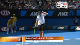 RALLY FOR RELIEF Nadal / Federer AO 2011 (3/7)