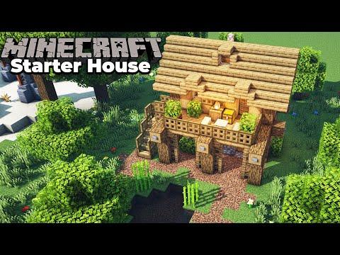 Minecraft Oak Survival Starter House Tutorial : How To Build In Minecraft
