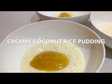 CREAMY COCONUT RICE PUDDING **easy Dessert Recipe**