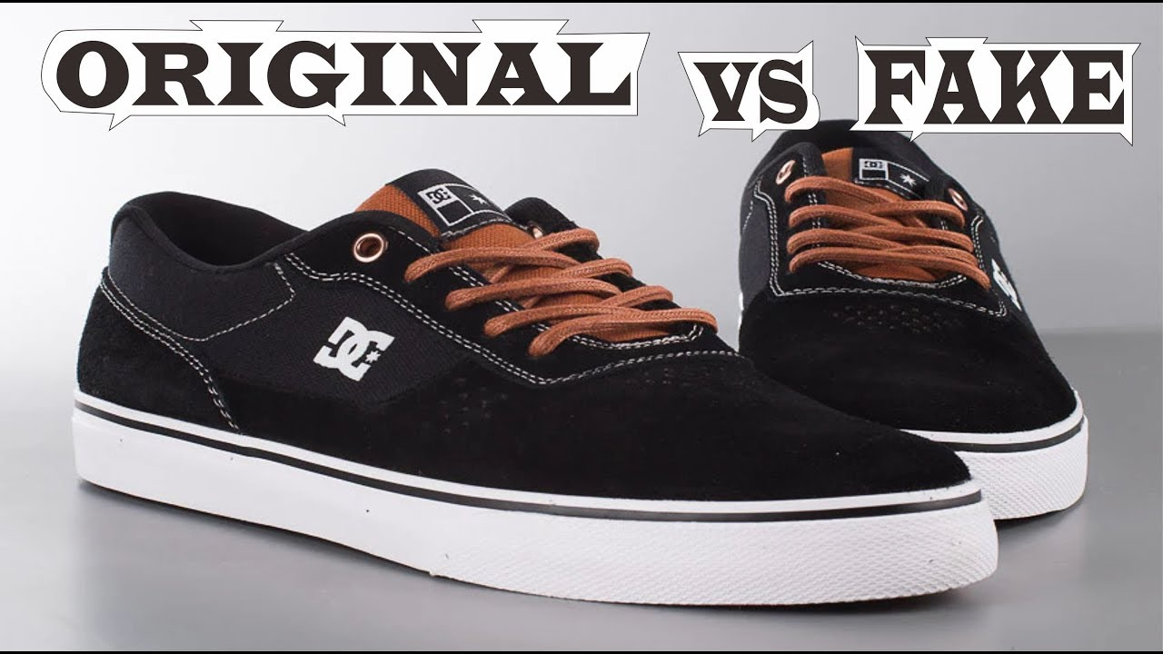 8ae4f77c8f DC Skateboarding Shoes Switch Black Brown Original & Fake