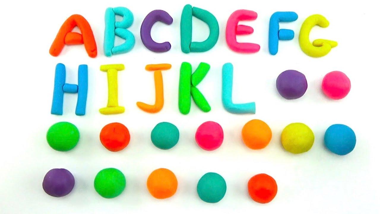 Английский алфавит для детей, лепим все буквы из пластилина