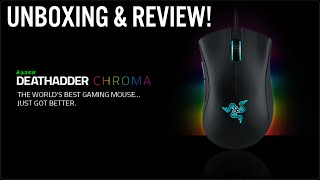 RAZER DEATHADDER CHROMA GAMING MOUSE UNBOXING & REVIEW! | BEST GAMING MOUSE ON THE MARKET!