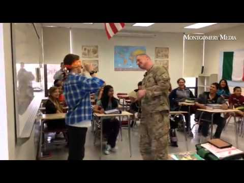 Serviceman surprises son Nov. 3 at Indian Crest Middle School. #surprisevisit