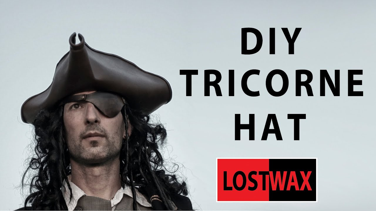 how to make a tricorn pirate hat from foam diy jack sparrow youtube