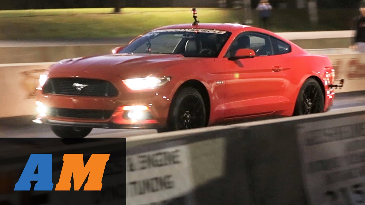2015 mustang gt stock 1 4 mile vs 2012 mustang gt drag race youtube