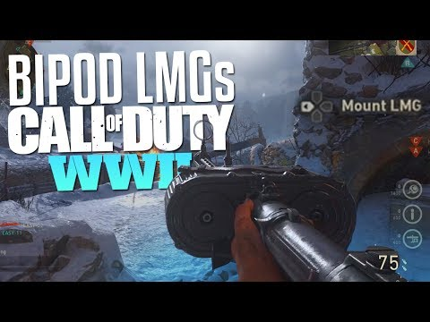 Call of Duty: WW2 Bipod LMGs (CoD WWII Multiplayer Gameplay)