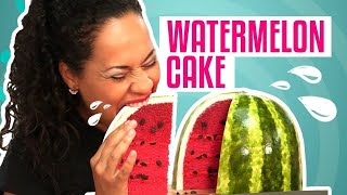 One of How To Cake It's most viewed videos: How To Make A WATERMELON out of Pink Velvet CAKE | Yolanda Gampp | How To Cake It