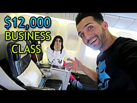 WE ALMOST SNEAKED INTO BUSINESS CLASS ($12,000 Seats!!)