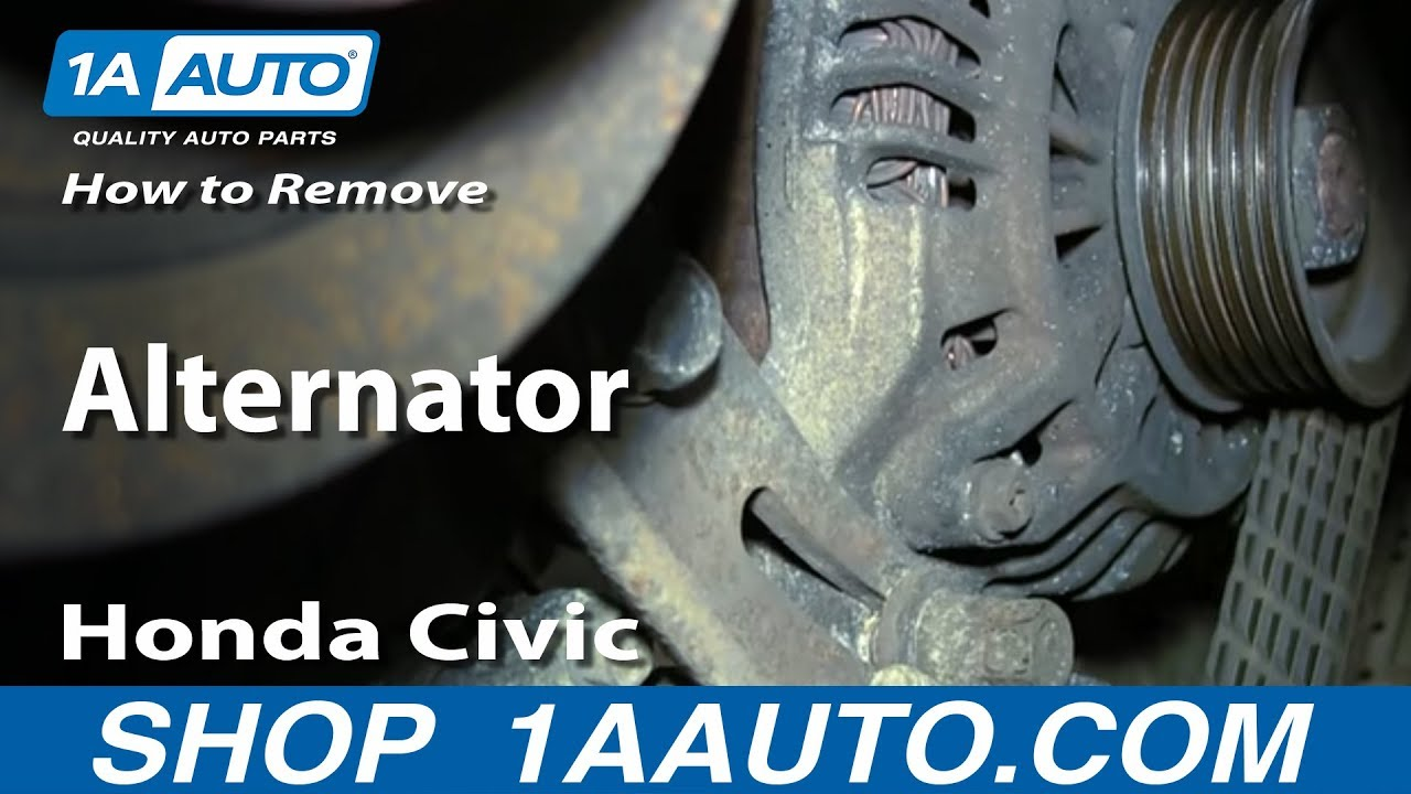 hight resolution of how to replace alternator 01 05 honda civic