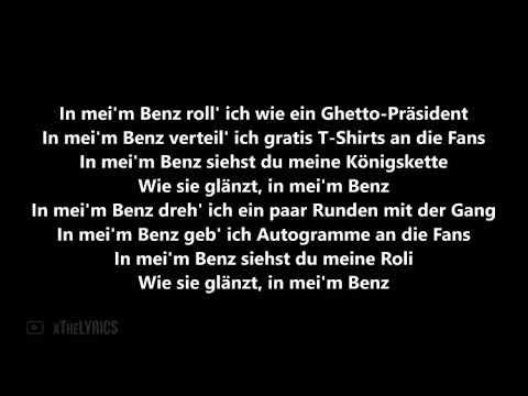 Ak Ausserkontrolle Feat Bonez Mc In Mein Benz Prod By Sonus030 Oficiall Lyrics Youtube