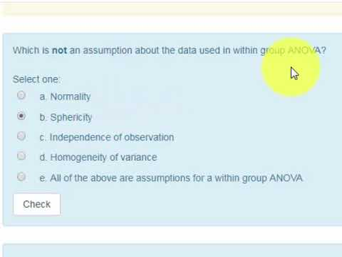 PSY3003 PRACTICE FINAL EXAM Q03 within group ANOVA assumptions
