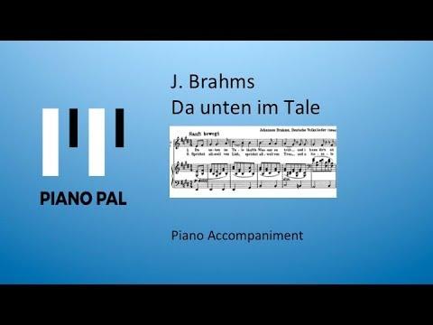 Da unten im Tale Brahms Accompaniment