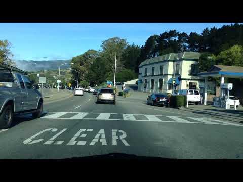 Drive from Tiburon to Corte Madera; California