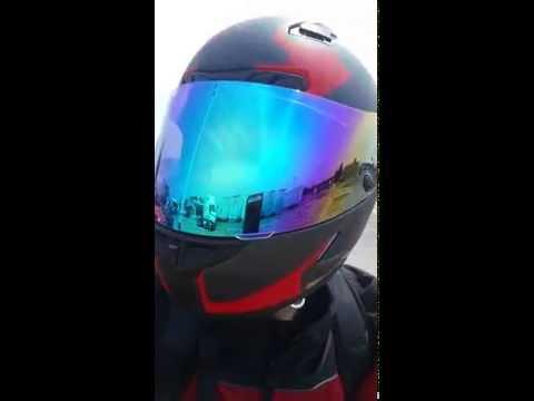 20e9ca3c Rainbow mirrored HJC HJ-09 Face Shield - YouTube